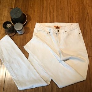 Tory Burch white super skinny jeans size 30